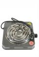 Плита для розжига угля спиральная серая. Фото 1.