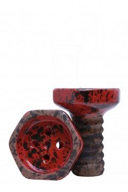 Чаша Evil Screw Bowl Glaze Red для кальяна
