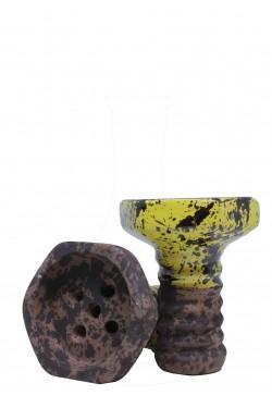 Чаша Evil Screw Bowl Glaze Yellow для кальяна