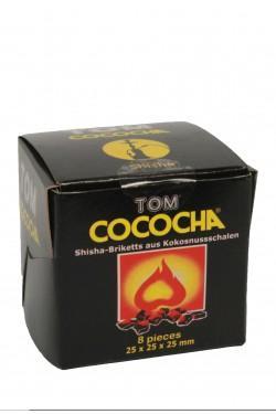 Уголь для кальяна Tom Cococha Yellow 8 pieces